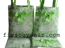 tas souvenir pernikahan TSP6 hijau
